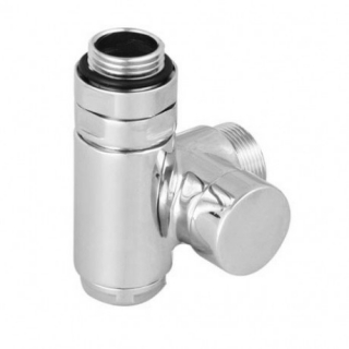 Lockshield valve with integrated T-piece CYLINDER